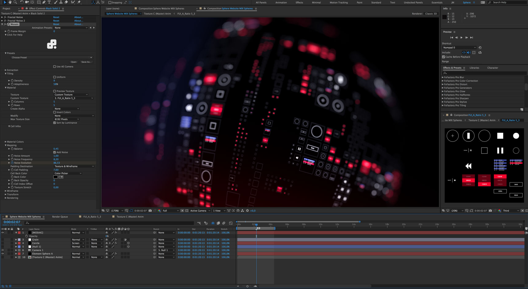 Yanobox Mosaic - Plugin for After Effects, Final Cut Pro